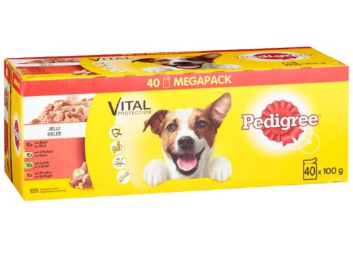 Pedigree Dog Food Jelly Pouches Mega Pack 40pk Dogfood Pets