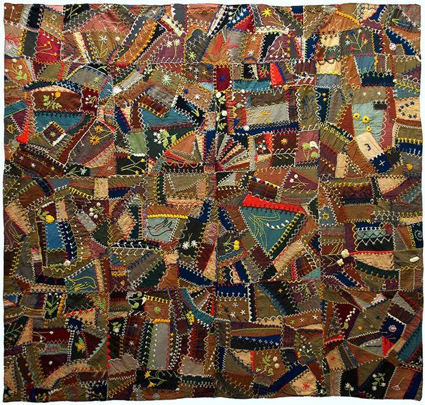 517 best Crazy Quilting - Antique / Vintage images on Pinterest ... : antique crazy quilt - Adamdwight.com