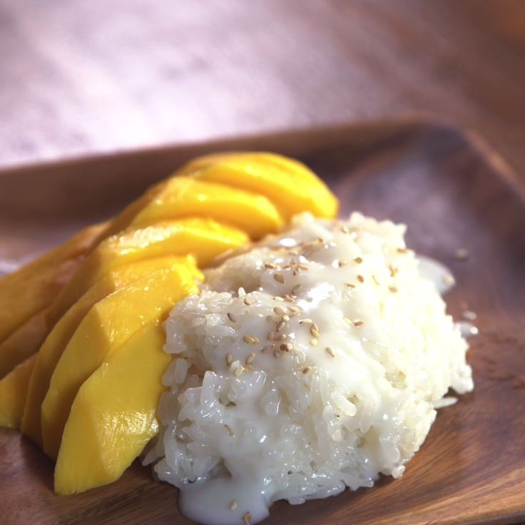 Thai sticky rice with mango hits all the sweet, silky, creamy spots you want in a satisfying dessert. It's a nice, simple way to get your sweet fix.