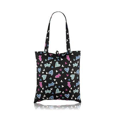 Radley Black nylon 'Love Me, Love My Dog' Foldaway tote bag | Debenhams