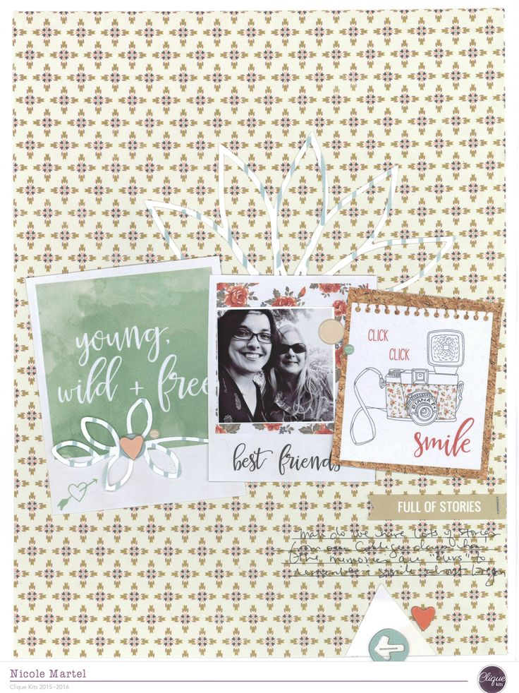 Hi all. Nicole here with another layout using the September Moon Child kit. For…