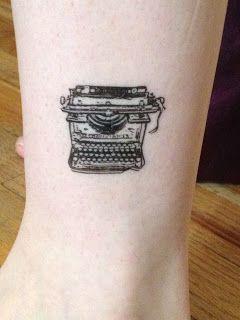 Tatuagem Tattoo Máquina de escrever