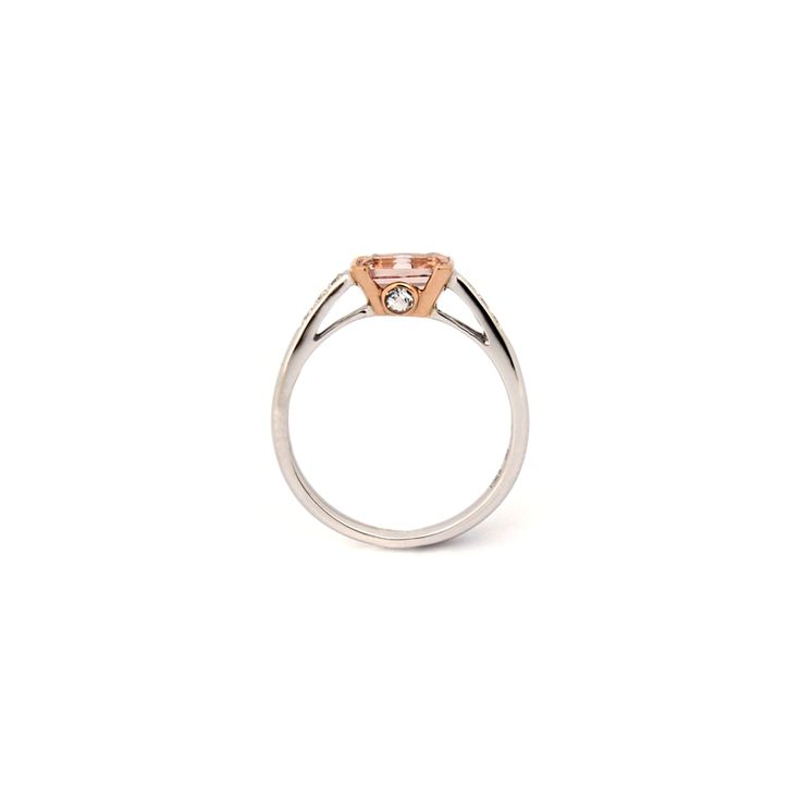 LA VIE EN ROSE RING | This stunning ring is handmade from 18 karat white gold and rose gold. | Total weight of centre stone: 1.05 cts, Diamond, 0.04ct