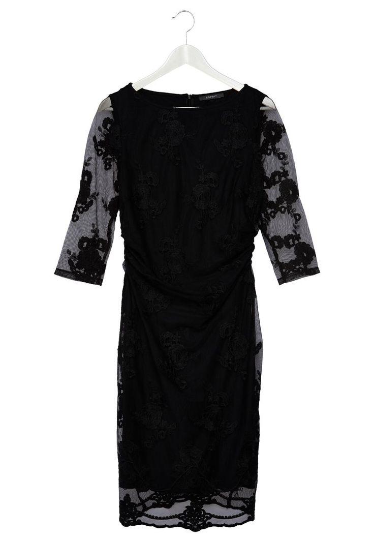 Vestido negro con encaje de ESPRIT  http://stylabel.com/product/esprit-collection-vestido-camisero-negro/2886462