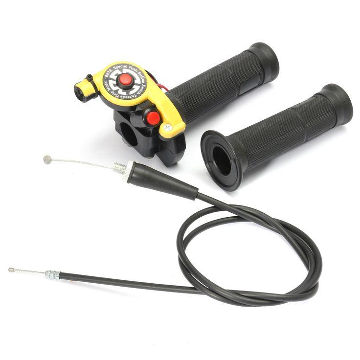 22mm 7/8 Inch Twist Throttle Grip Handlebar With Cable 125cc 140cc 150cc Pit Bike