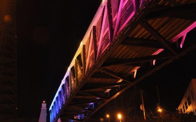 Светодиодная инсталляция «Призрачный поезд» #архитектурнаяподсветкамостов #освещениемоста #световаяинсталляция #светодиоднаяинсталляция #светодиоднаяподсветкамостов #светодиоднаяподсветка #светодиодная #LEDNEWS