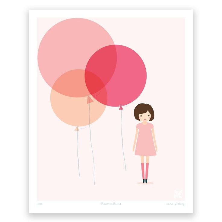Three Balloons - Art Print