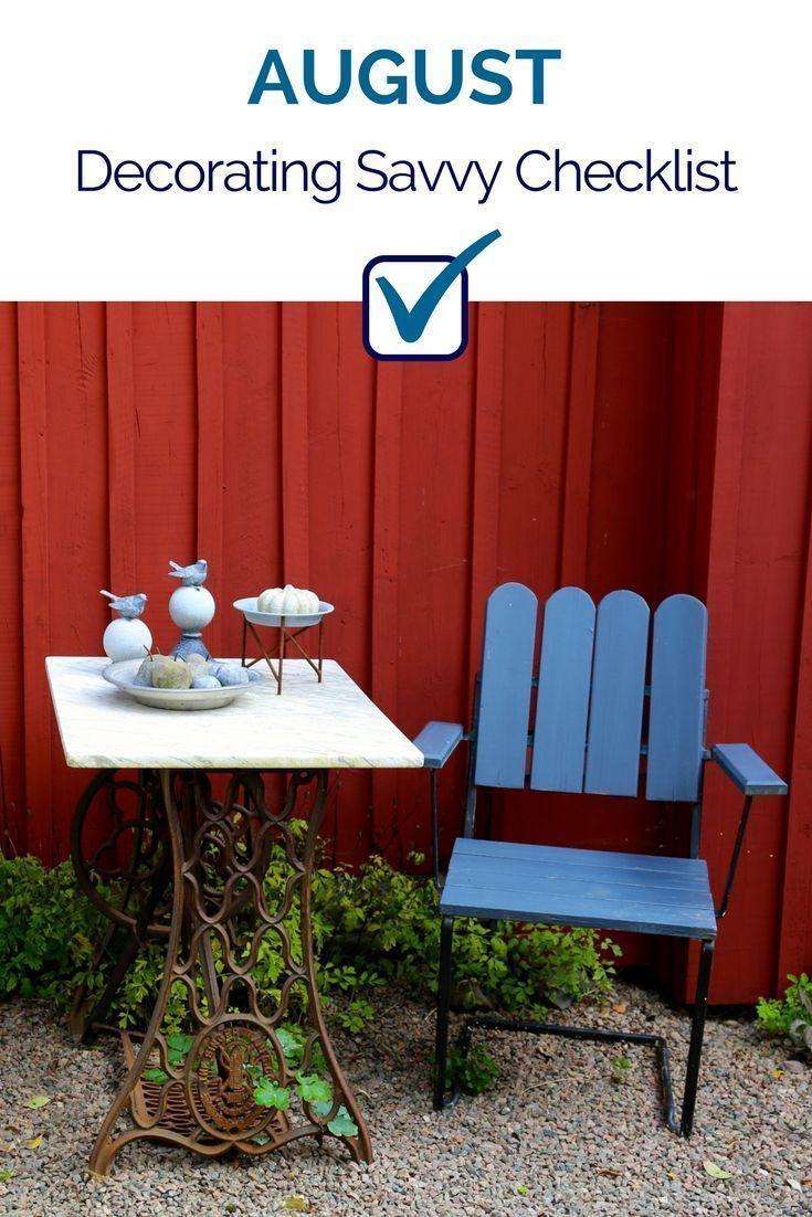 August Decorating Savvy Checklist Tida Blog Posts
