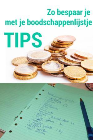 Zo bespaar je geld door een boodschappenlijstje te maken en eens per week je weekboodschappen te doen! Huishoudelijk, budget bespaartips, DIY lifehacks