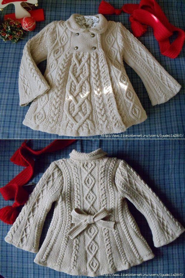 """Пальто """"Элизабет"""" от Эльвинг по модели Ральфа Лорена   вязание   Постила"""