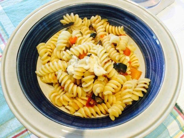 Comida Italiana ..por italianos: Pasta calabacín y pimiento (también en su versión sin lactosa)