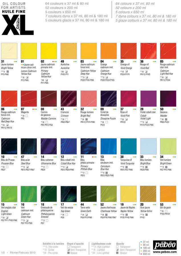 Pebeo Studio Xl Fine Artist Oil Paint 200ml 52 Colours Available Colours Oil Painting Oils