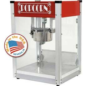 Concession Equipment | Popcorn Machines | Paragon 1104530 Red Gatsby Popcorn Machine 4 oz Red 120V 1200W | B849504 - GlobalIndustrial.com