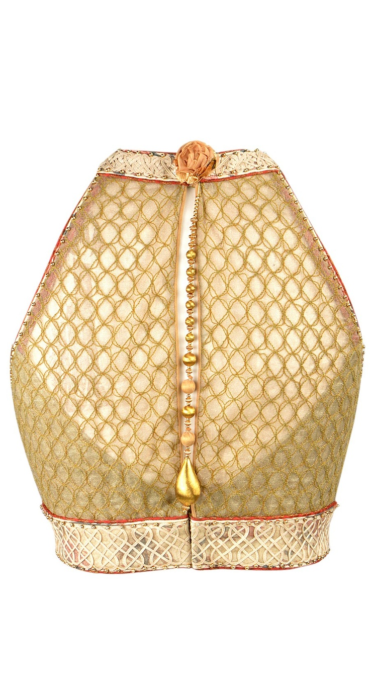 Golden saree blouse