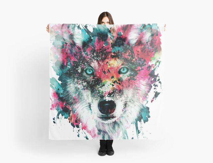 Wolf II by RIZA PEKER #wolf #digital #art #painting #tshirts #women #men #fashion #fashionblogger #artist #design #cool #creative #redbuble