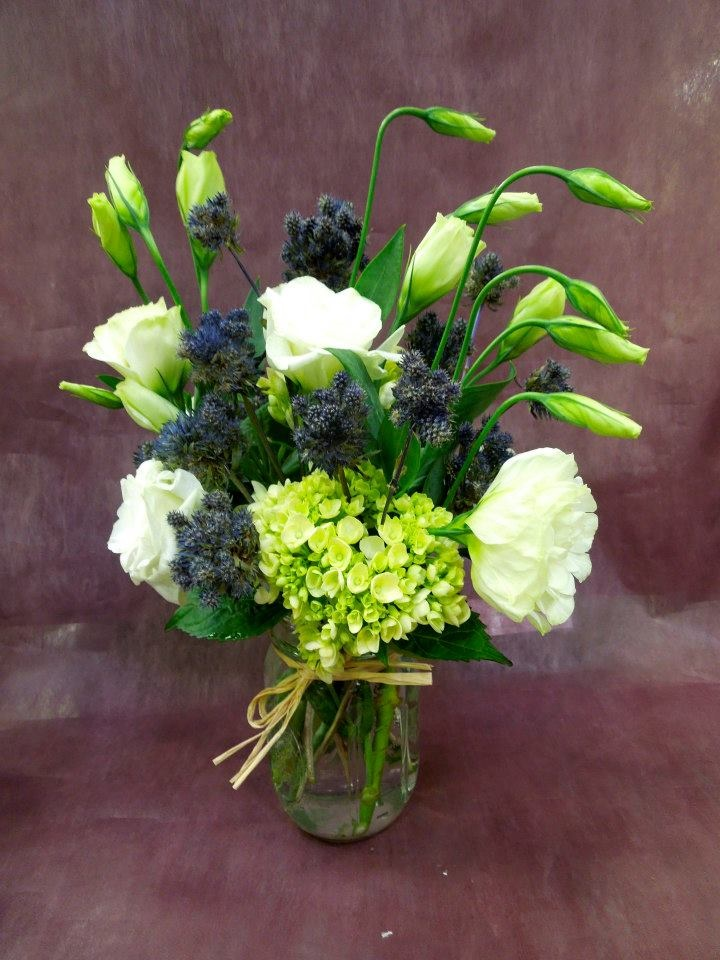 Lisianthus and thistle
