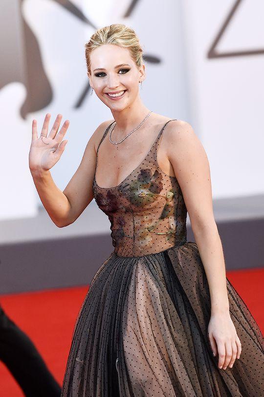 Jennifer Lawrence attends the World Premiere of 'Mother!' at the 74th Venice Film Festival on September 5, 2017 in Venice, Italy.