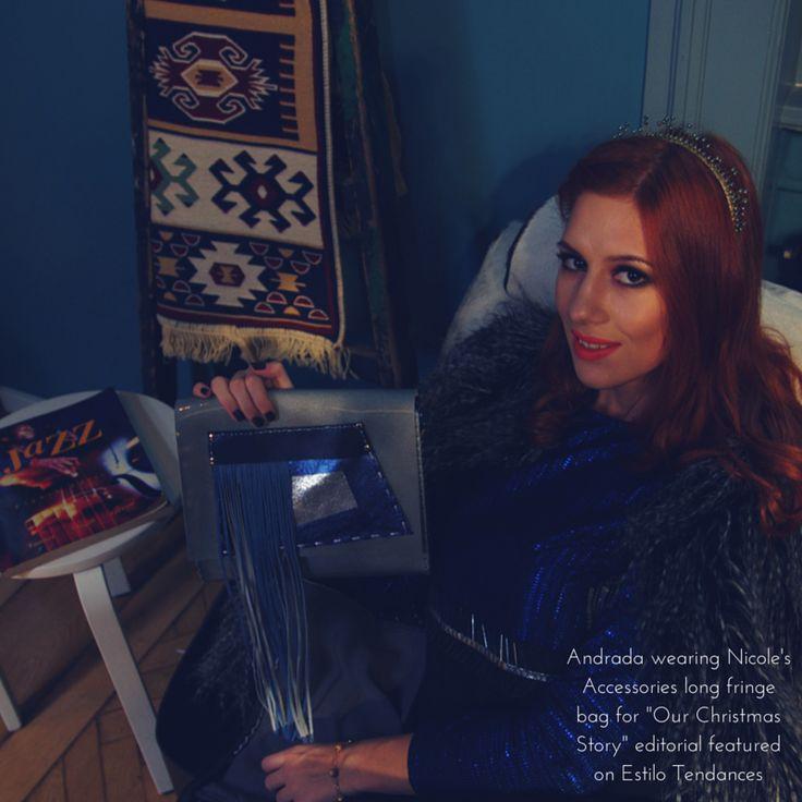 @estilotendances editorial featuring Nicole's Accessories leather bag! @andradabibi
