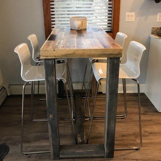 Reclaimed Wood Bar Table Restaurant Counter Community Communal Etsy In 2020 Reclaimed Wood Bars Wood Bar Table Bar Table