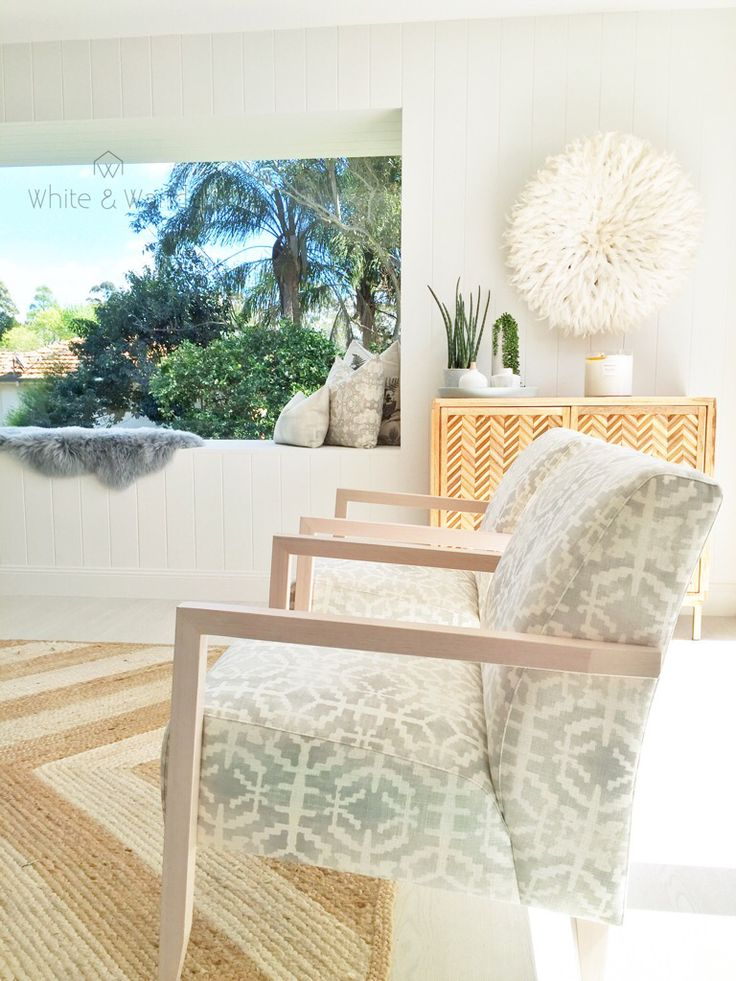 Scandinavian look lounge and living area from threebirdsrenovations