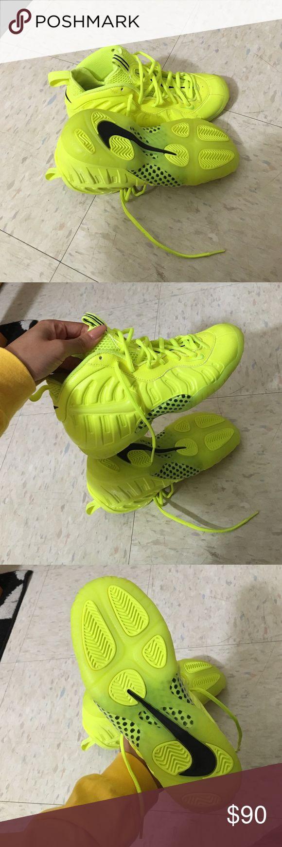 Neon Volt (Yellow/Green) Foamposite Never worn Nike Shoes Sneakers