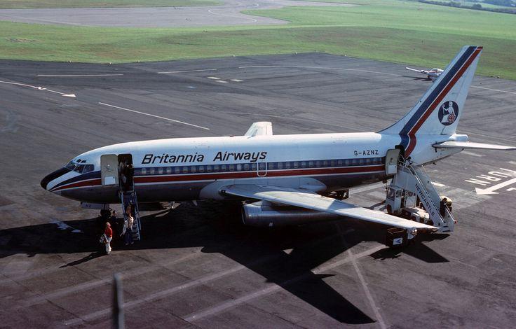 Boeing 737: 19074 Boeing 737-222 G-AZNZ Britannia Airways Newcastle Airport
