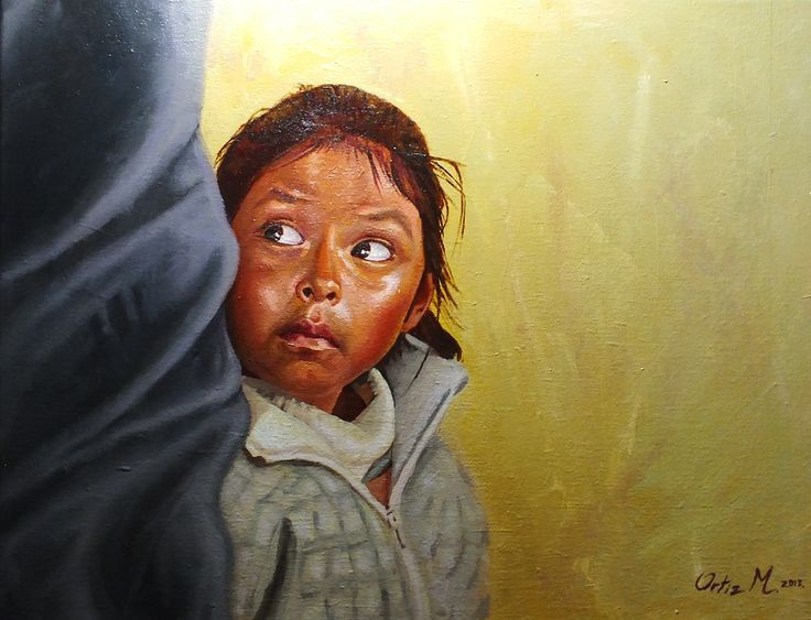 Bolivian girl portrait