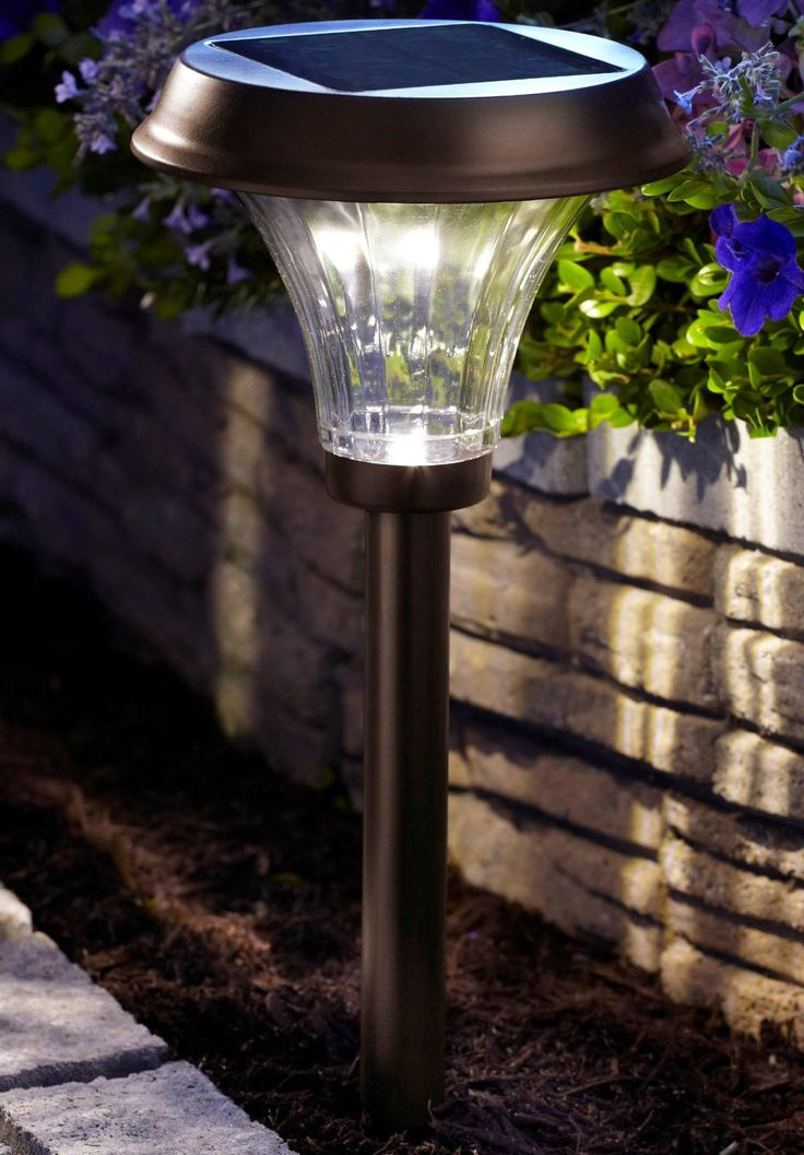 moonrays richmond solar light metal path light with 25xbrighter led light