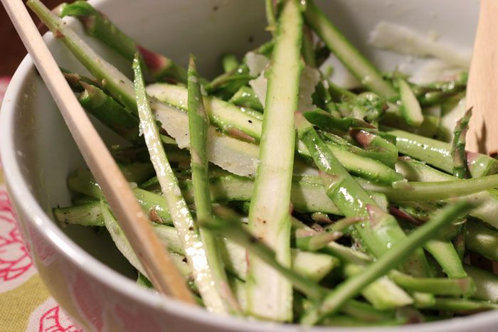 asparagus and pecorino salad with lemon vinaigrette via Mario Batali ...