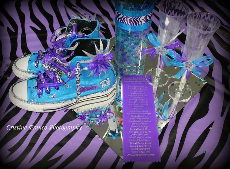 Purple And Blue Quinceanera Decorations Quinceanera - Blinged ...