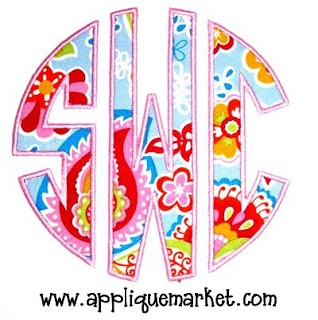 Using Embird to Create a Circle Monogram by applique market