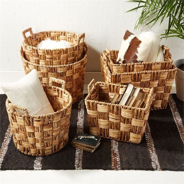 Silkwood Laundry Baskets Set Of 6 By Tozai Home Seven Colonial