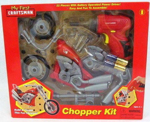My First Craftman Chopper Kit Motorcycle Assemble 3+ years boy toy #MyFirstCraftsman