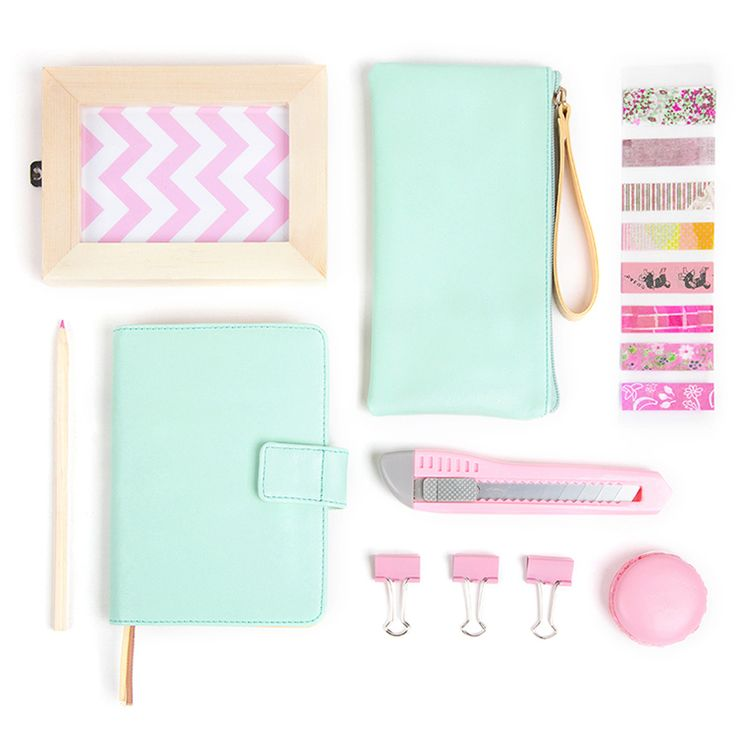Macaroon color sweet pink blue mint A6 notebook 280 pages agenda daily plan school office supplies Japan fashion journal-in Notebooks from Office & School Supplies