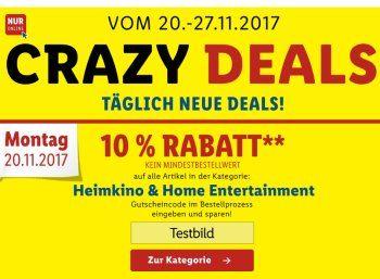 """Lidl: 10 Prozent Rabatt auf Heimkino und Home-Entertainment https://www.discountfan.de/artikel/technik_und_haushalt/lidl-10-prozent-rabatt-auf-heimkino-und-home-entertainment.php Der Discounter Lidl kontert die """"Cyber-Monday-Woche"""" von Amazon und startet mit seinen """"Crazy Deals"""": Jeden Tag gibt es neue Gutscheine und Angebote. Am heutigen Montag sind alle Artikel der Kategorie """"Heimkino und Home-Entertainment"""" um zehn Prozent... #Kopfhö"""