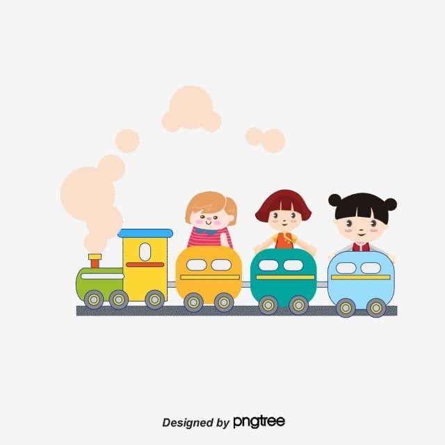 الأطفال الكرتون قصاصات فنية من الأطفال لذلك القطار كرتون Png وملف Psd للتحميل مجانا Art Wallpaper Art Cartoon