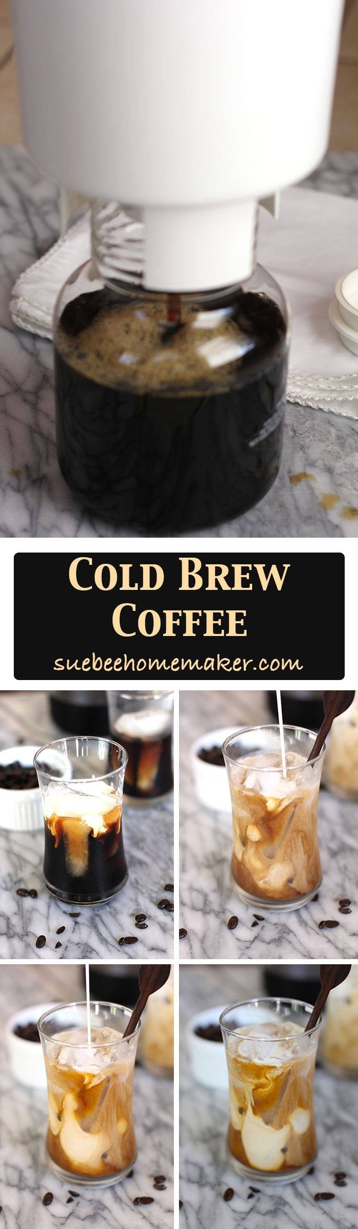 Cold Brew Coffee uses a patented cold brew system, using regular coffee beans to create a super smooth and less acidic coffee!