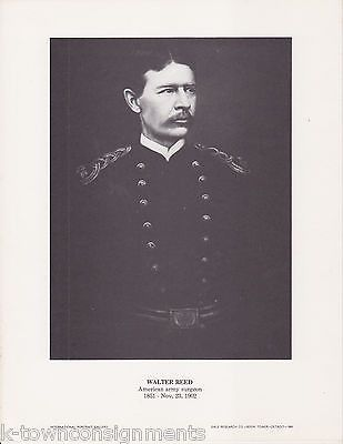 Walter Reed American Army Surgeon Vintage Portrait Gallery Poster Photo Print