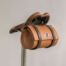Vintage Bicycle Saddle Tool Bag Rear  Leather Brooks Saddle Bike  Cycling Retro