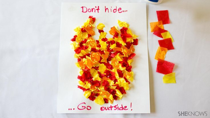 This tissue paper fire safety craft would be perfect for fire safety week