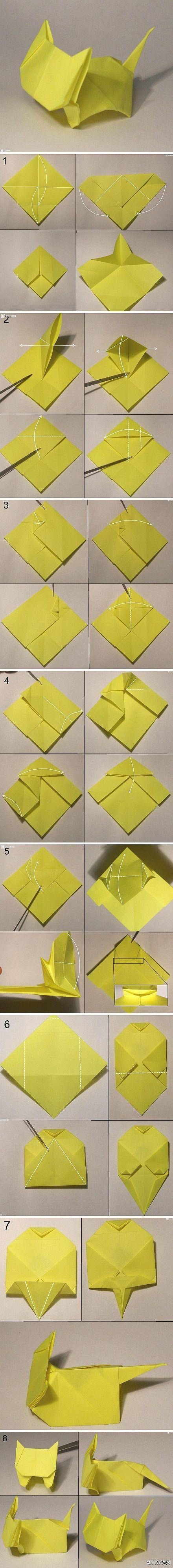 Origami Little Cute Cat #cutecats #cats #kitten