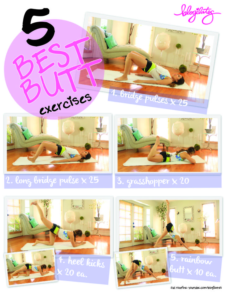 5 best butt exercises printable