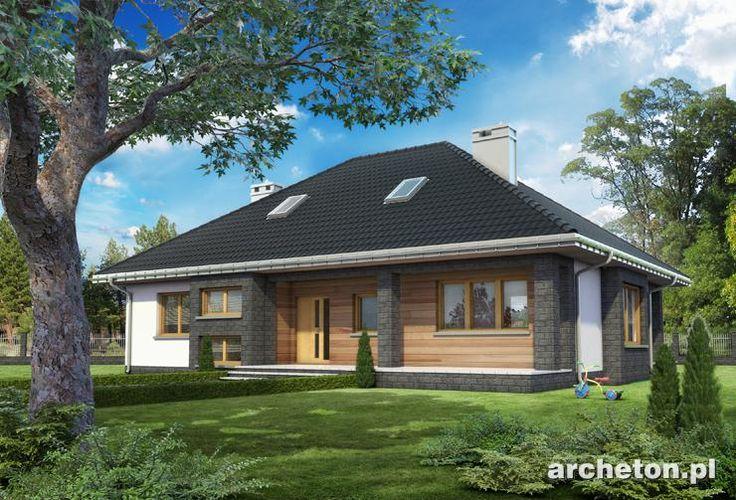 Projekt domu Regina Ultra to dom parterowy o nowoczesnych detalach, pokryty dachem wielospadowym