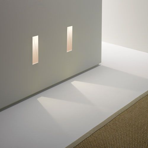 Borgo Trimless 35 Plastered-in 3W 3000K LED Wall Light, Dimmable Rectangular Light  - in action!