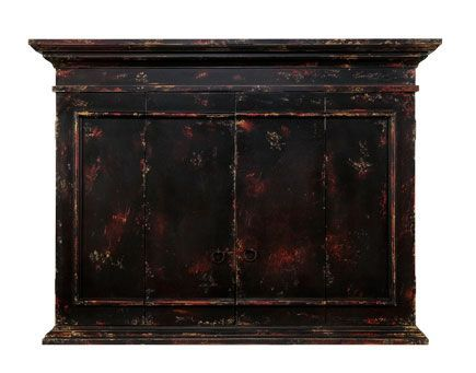 """Chatham Hill Jackson Wall Mount TV Cabinet A blend of traditional mouldings and contemporary framing give this media cabinet a dramatic, eclectic presentation.Dimensions: 9-3/4"""" x 42"""" x 28"""" Weight: 45 lbs."""