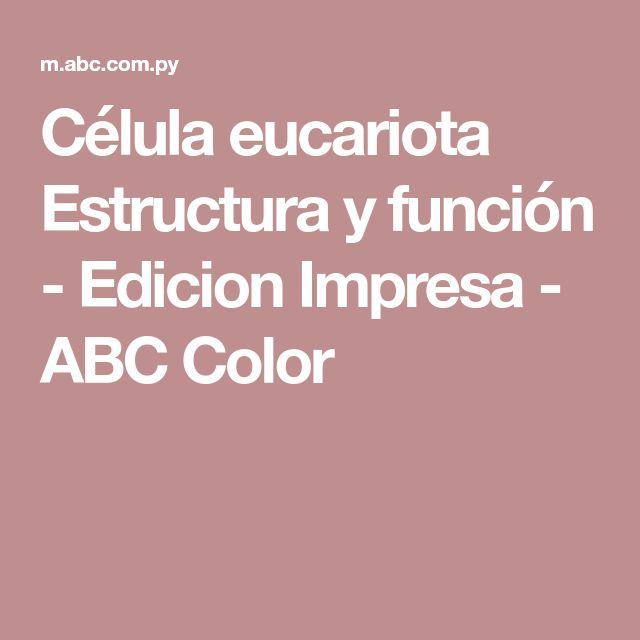 Célula eucariota Estructura y función - Edicion Impresa - ABC Color