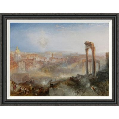 """Global Gallery 'Modern Rome - Campo Vaccino' by Joseph Mallord William Turner Framed Painting Print Size: 30"""" H x 38"""" W"""