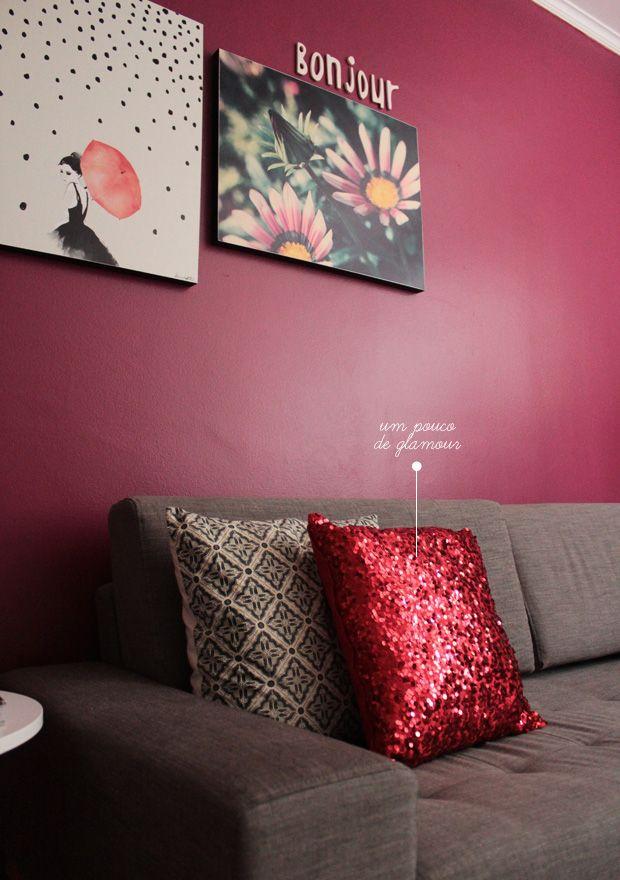 my red sequin pillow #pillows #decor #láemcasa
