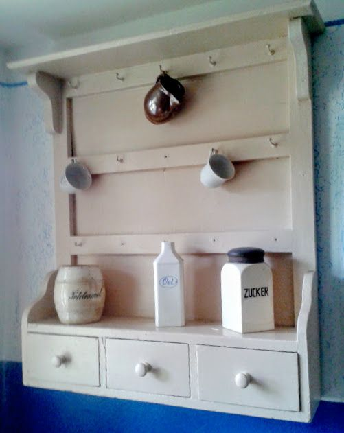 Kitchen shelf in a cottage