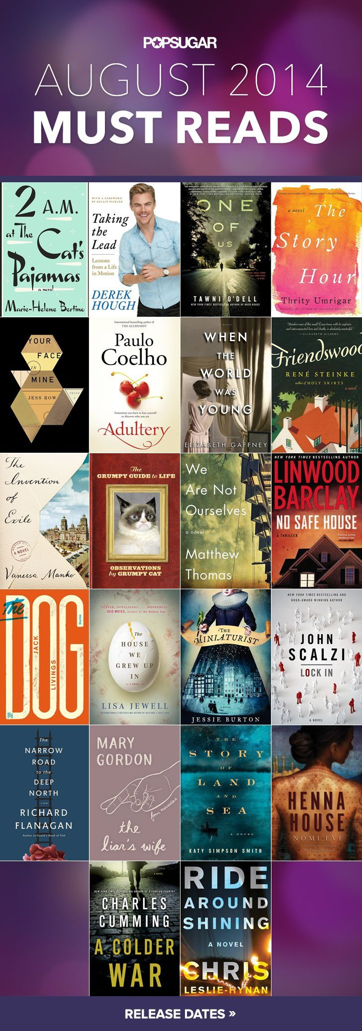 August 2014 Must Read Books, Challenge Your Self, Read A New Writer Each  Month